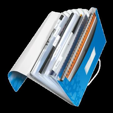 Mapa tip proiect din plastic, albastru metalizat, LEITZ Wow