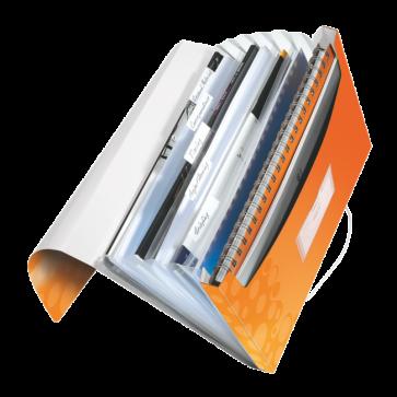 Mapa tip proiect din plastic, portocaliu metalizat, LEITZ Wow