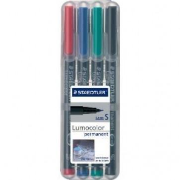 Marker permanent, 0.4mm, rosu, STAEDTLER Lumocolor