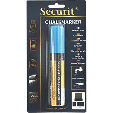 Marker cu creta, albastru, SECURIT SMA720