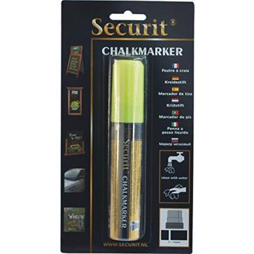 Marker cu creta, galben, SECURIT SMA720