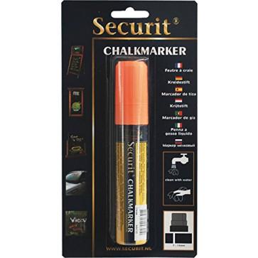 Marker cu creta, portocaliu, SECURIT SMA720