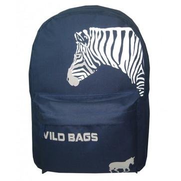 Ghiozdan scolar, 42 x 30 x 14cm, albastru, PIGNA School Friendly Wild Bags