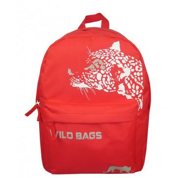 Ghiozdan scolar, 42 x 30 x 14cm, rosu, PIGNA School Friendly Wild Bags