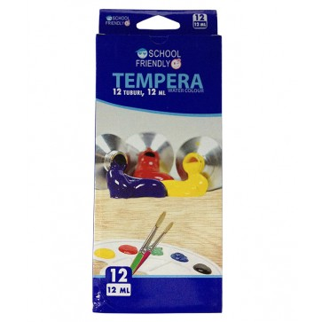 Tempera 12 culori/set, 12ml, PIGNA School Friendly