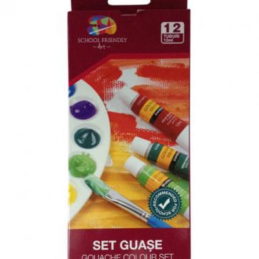 Guase 12 culori/set, PIGNA School Friendly