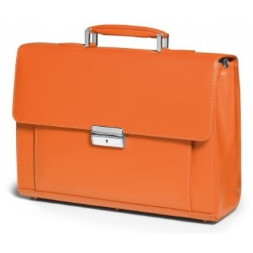 Servieta, portocaliu, din piele de bovina, FEDON Men in Business Tuc-S