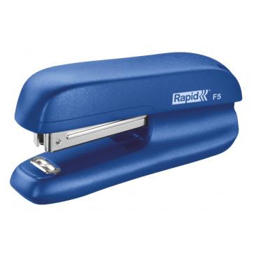 Mini-capsator Rapid F5, 10 coli, albastru, cutie