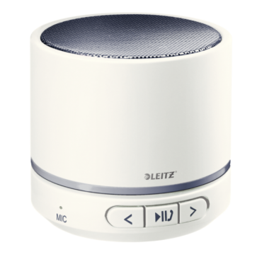 Mini-difuzor portabil cu Bluetooth, alb, LEITZ WOW
