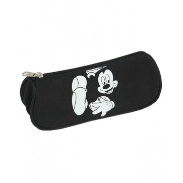Penar tip etui, 1 compartiment, negru, MICKEY MOUSE