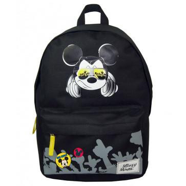 Ghiozdan, gimnaziu, simplu, negru, PIGNA Mickey Mouse