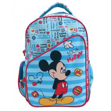 Ghiozdan, clasele 1-4, albastru, PIGNA Mickey Mouse Happy
