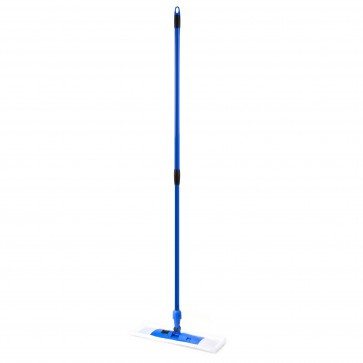 Mop plat, 140 cm., coada telescopica, microfibra, albastru, OTI