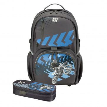 Rucsac ergonomic + penar tip etui, HERLITZ Be.Bag Cube Bundle Motorracer