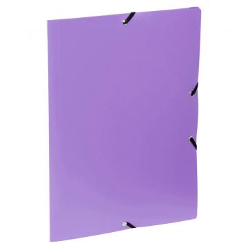 Mapa din plastic, A4, mov, cu elastic, VIQUEL Rabats