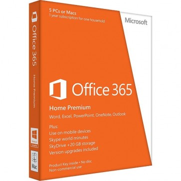 MICROSOFT OFFICE 365 Home Premium, English Subscriptie, Cloud, 1 an