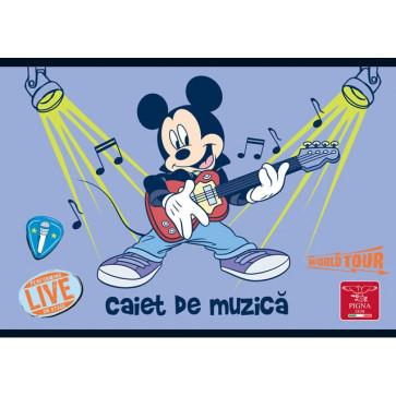 Caiet pentru muzica, 17 x 24cm, 24 file, PIGNA Premium Mickey Mouse