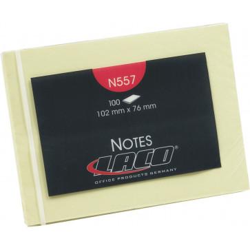 Notes autoadeziv, 102 x 76mm, 100 file/set, galben clasic, LACO
