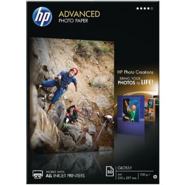 Hartie foto A4, 250 g/mp, 50 coli/top, lucios, HP Advanced Inkjet