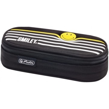 Necessaire, oval, HERLITZ SmileyWorld Black Stripes