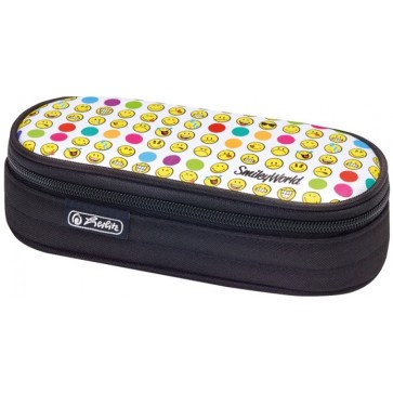 Necessaire, oval, HERLITZ SmileyWorld Rainbow Faces