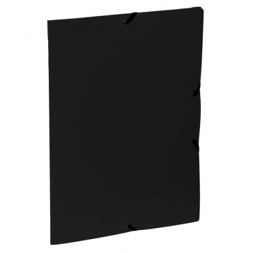 Mapa din plastic, A4, negru, cu elastic, VIQUEL Rabats