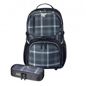 Rucsac ergonomic + penar tip etui, HERLITZ Be.Bag Cube Bundle carouri