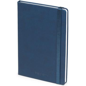 Caiet de birou A5, albastru, din imitatie de piele, FEDON Notebook