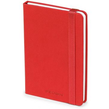 Caiet de birou A6, rosu, din imitatie de piele, FEDON Notebook