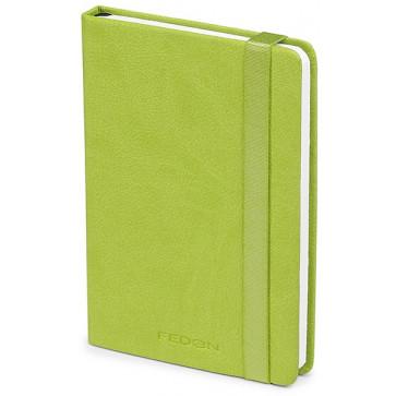 Caiet de birou A6, verde, din imitatie de piele, FEDON Notebook