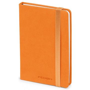 Caiet de birou A6, portocaliu, din imitatie de piele, FEDON Notebook
