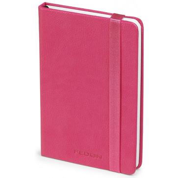 Caiet de birou A6, fuchsia, din imitatie de piele, FEDON Notebook