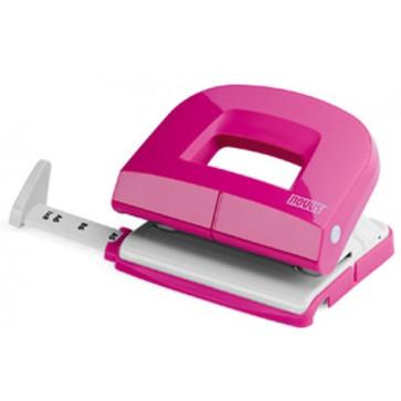 Perforator de birou, pentru maxim 16 coli, roz, NOVUS E216 Fresh