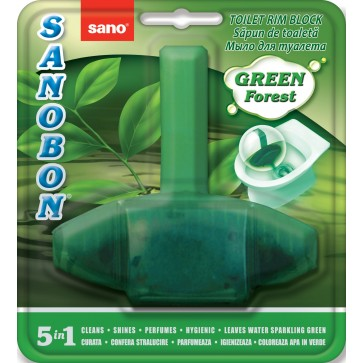 Odorizant solid, pentru vas WC, 55 gr, SANO Bon Green Forest 5-in-1