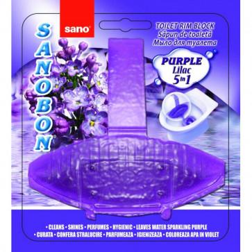 Odorizant solid, pentru vas WC, 55 gr, SANO Bon Purple Lilac 5-in-1