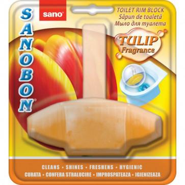 Odorizant solid, pentru vas WC, 55 gr, SANO Bon Tulip
