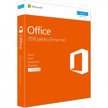 Microsoft Office Home and Business 2016, Windows PC, Engleza EuroZone, Medialess P2