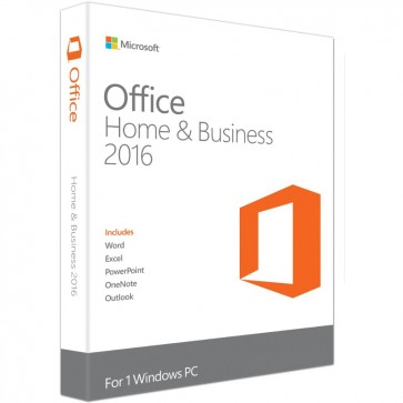 MICROSOFT OFFICE Home and Business 2016, 32/64 bit English EuroZone Medialess