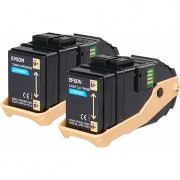 Toner, double pack, cyan, EPSON C13S050608