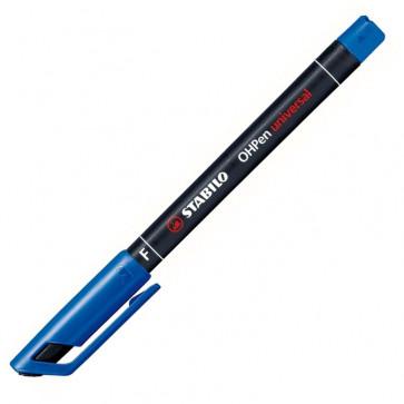 Marker permanent, 0.7mm, albastru, STABILO OHPen F
