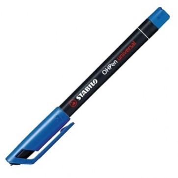 Marker permanent, 1mm, albastru, STABILO OHPen M