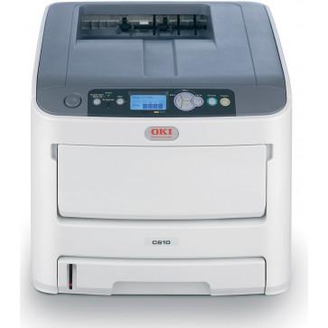 Imprimanta laser color, OKI C610dn LED, A4, USB, Retea, Duplex