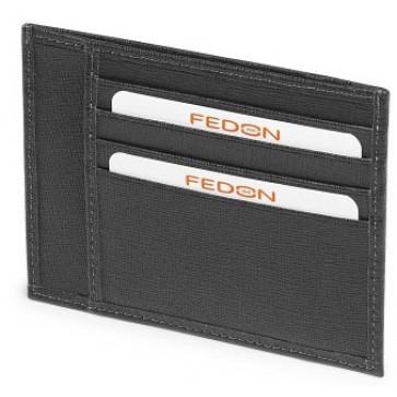 Portofel, negru, din piele de bovina, FEDON P-Cards-8