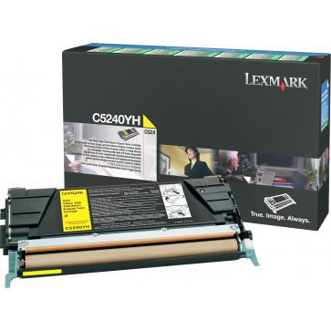 Toner, yellow, LEXMARK C5240YH