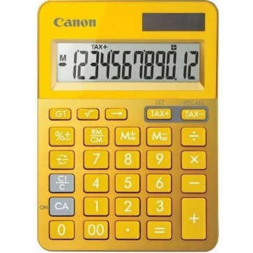 Calculator de birou, 12 digiti, galben, CANON LS-123K