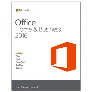 MICROSOFT OFFICE Home and Business 2016, 32/64 bit Romanian EuroZone Medialess, retail