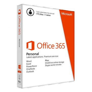 MICROSOFT OFFICE 365 Personal, 32-bit/x64, English Subscriptie, Cloud, 1 An