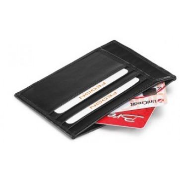 Portofel, negru, din piele de bovina, FEDON Classica P-Cards-8