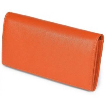 Portofel dama, portocaliu, din piele de bovina, FEDON Classica P-Foglio-D-4