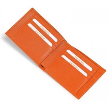 Portofel barbatesc, portocaliu, din piele de bovina, FEDON Classica P-Foglio-U1
